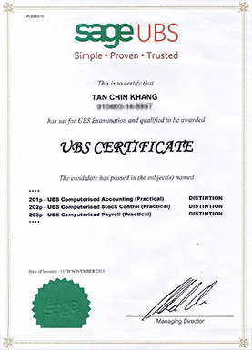 Certificate Ubs Course Ablesoft Business Solution